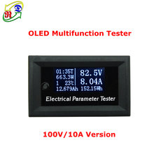 RD 100v/33v10A 7in1 OLED Multifunction Tester Voltage current Time temperature capacity voltmeter Ammeter electrical meter white