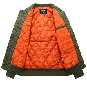 Image 5 - Bomberjack Mannen Geef Nooit Streetwear Dikke Jas Militaire Uitloper Heren Jassen Herfst Winter 2019 Plus Size 8XL Losse