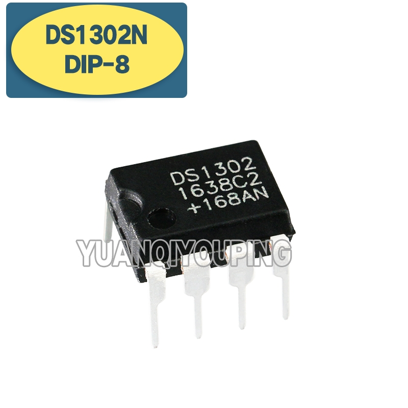 10 pces ds1302n dip8 ds1302 dip-8 trickle carga timekeeping chip novo e original