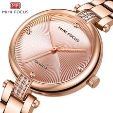 Minifocus New Arrival kobiety zegarek słynnej luksusowej marki mody zegarki kwarcowe wodoodporna stal nierdzewna pani zegar reloj mujer tanie tanio QUARTZ Składane zapięcie z bezpieczeństwem CN (pochodzenie) Ze stopu 3Bar Moda casual 12mm ROUND 9 2mm Odporny na wstrząsy
