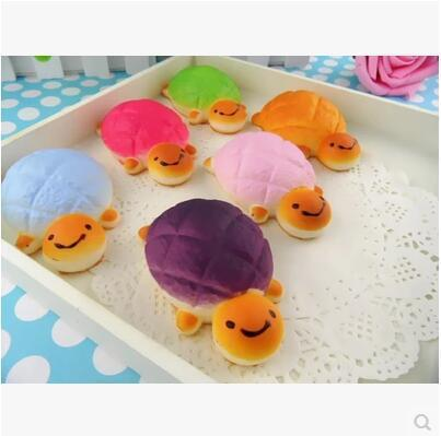 Simulation Food Bread Lovely Adorable Tortoise Mobile Phone Bag Key Pendant Children Yi Chi House Toys Squishy Slow Rising