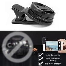 37mm circular universal polarizador portátil lente da câmera cpl filtro profissional para iphone e outros smartphones