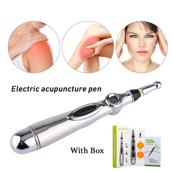 Elektroniczne pióro do akupunktury stymulator akupunktura masażer ciała Laser akupunktura terapia magnetyczna Meridian Energy Pen Relief Pain tanie i dobre opinie MOKARLE laser acupuncture pen Electric Meridians Laser Therapy 22 5*12*5 5 A bare pen with 3 massage heads pain relief laser accupuncture pen
