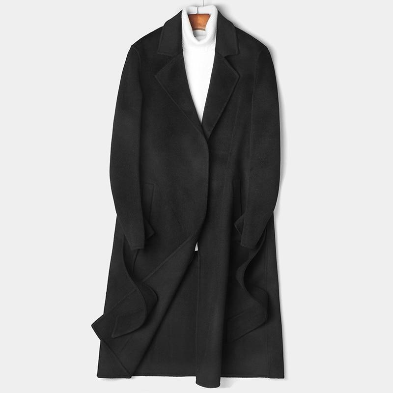 Handmade Double-faced Wool Coat Winter Jacket Long Coat Autumn Men Clothes 2020 Men Overcoat Abrigo Hombre 81Z8809 MY801