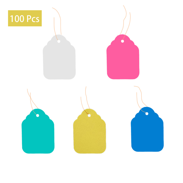 100 pcs Plant Hanging PVC Tags Tree Labels Waterproof Strip Line Gardening Labels Multi Colored For garden potted plants