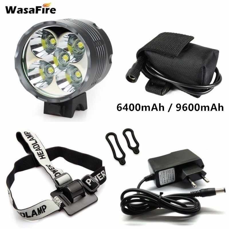 Bright LED Bike Headlight Cycling T6 Front Light Road Bicycle Headlamp Battery