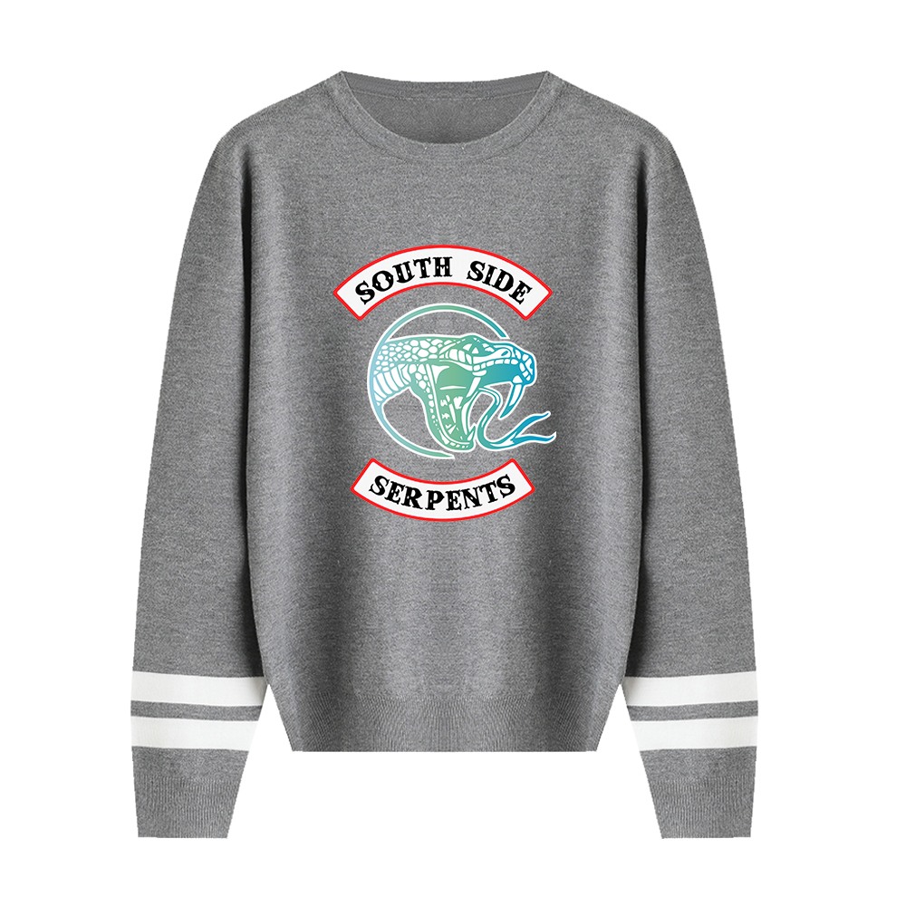 Suitable Print Riverdale O-Neck Pullovers Autumn Sweaters Spring Fashion Hip Hop Men Women Sweaters Male Female Gray Tops