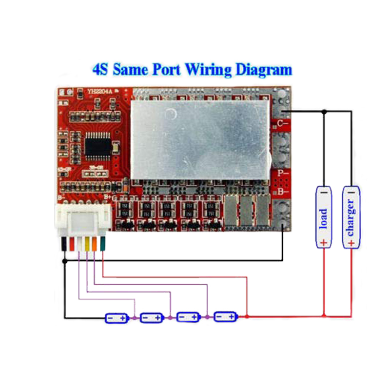 <font><b>3S</b></font> 4S 5S 50A BMS <font><b>Board</b></font>/ 55A 3.7V Lithium battery protection <font><b>board</b></font>/3.2V iron phosphate/LiFePO4 battery BMS <font><b>board</b></font> with Balance image