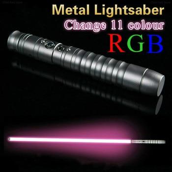 2020 New Lightsaber Cosplay Change 11 Colour Luke Light Saber Jedi Sith Laser Force Fx Heavy Dueling Loud Sound 85cm