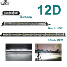 CO LIGHT 8 20 32 LED Light Bar Offroad 60W 180W 300W Led Work Combo 4x4 12V 24V for Car Jeep Tractors SUV Boat