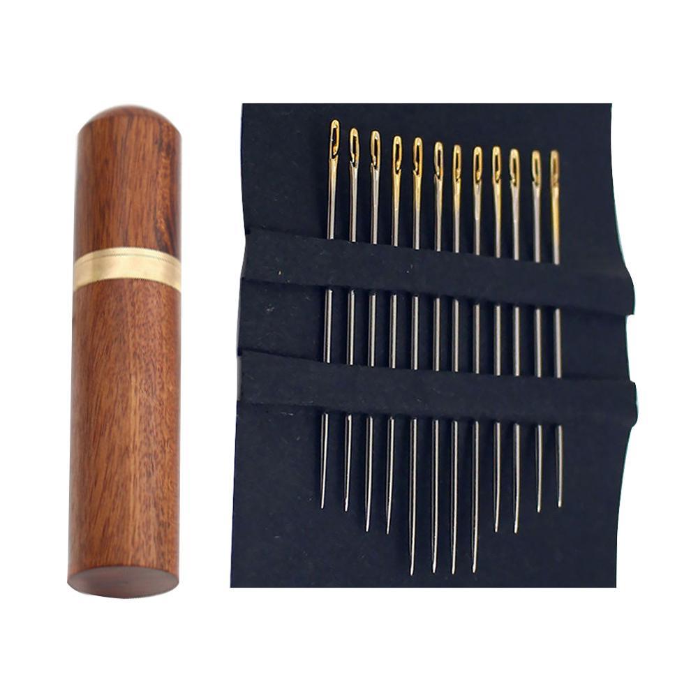 12 шт./лот иглы для слепых золотых хвостов легко пройти из стороны ручного шитья инструмент для вышивки DIY Рукоделие швейные иглы - Цвет: combination gold