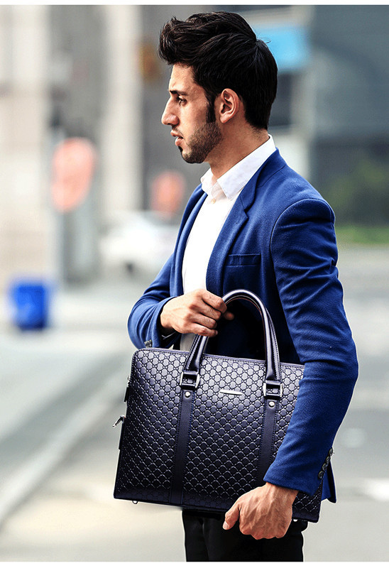 H5d6ae77e645b47deae4c5d92030a1df2V New Double Layers Men's Leather Business Briefcase Casual Man Shoulder Bag Messenger Bag Male Laptops Handbags Men Travel Bags