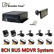 Mdvr-Kit Camera 8channel Video-Recorder Truck AHD HDD for Bus 6pcs 960H