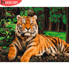 HUACAN DIY Pictures By Number Kits Home Decor Painting By Numbers Tiger Animal Drawing On Canvas HandPainted Art Gift