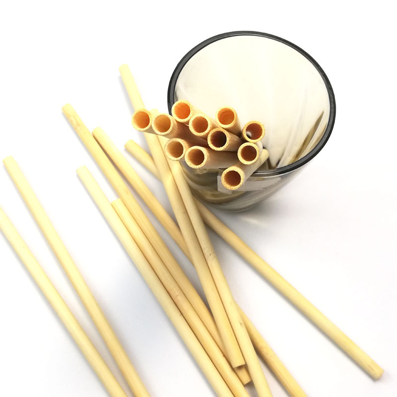Manufacturers Direct Supply Bamboo Wooden Quality Straw Environmentally Friendly Non-Paint No Wax Bamboo Disposable Straws Milk