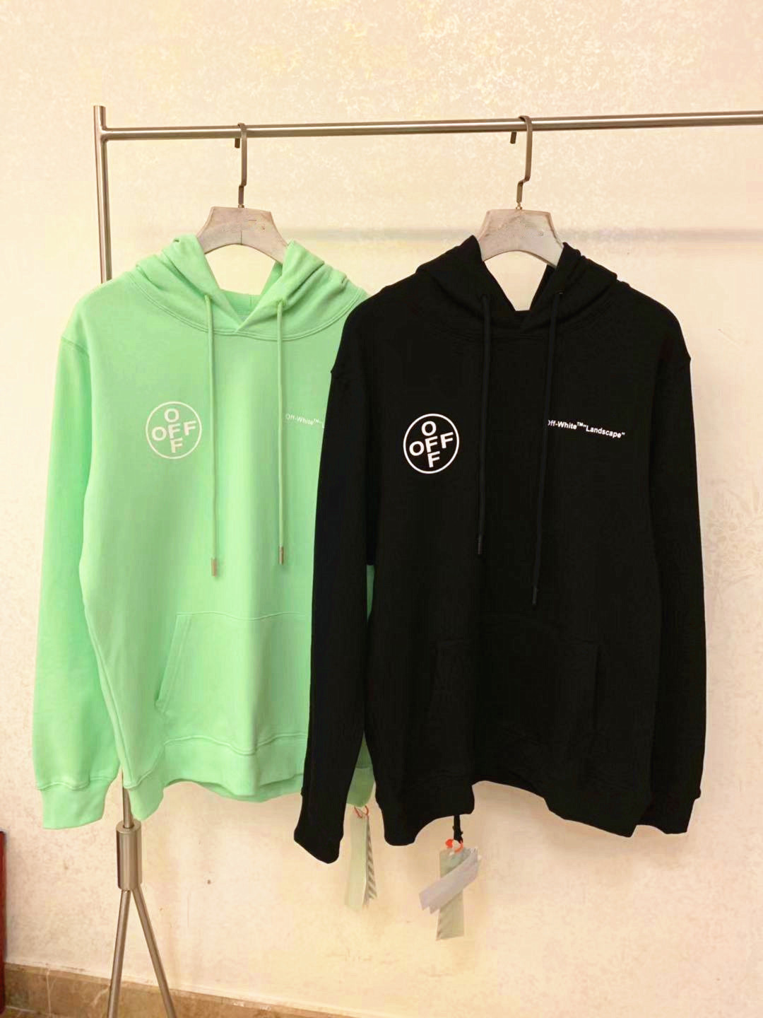 Off19fw Japan Tokyo Limited Funds Multiple Lettered Trees Forest Hoodie Ow White
