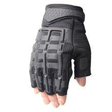 Тактические перчатки без пальцев военные армейские для стрельбы