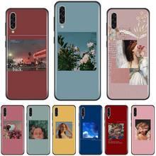10s custom gf custom 50s flame sunburst aged Aesthetic song blue pink flowers Custom Photo Phone Case For Samsung Galaxy A 3 6 7 8 10 20 30 40 50 70 71 10S 20S 30S 50S PLUS