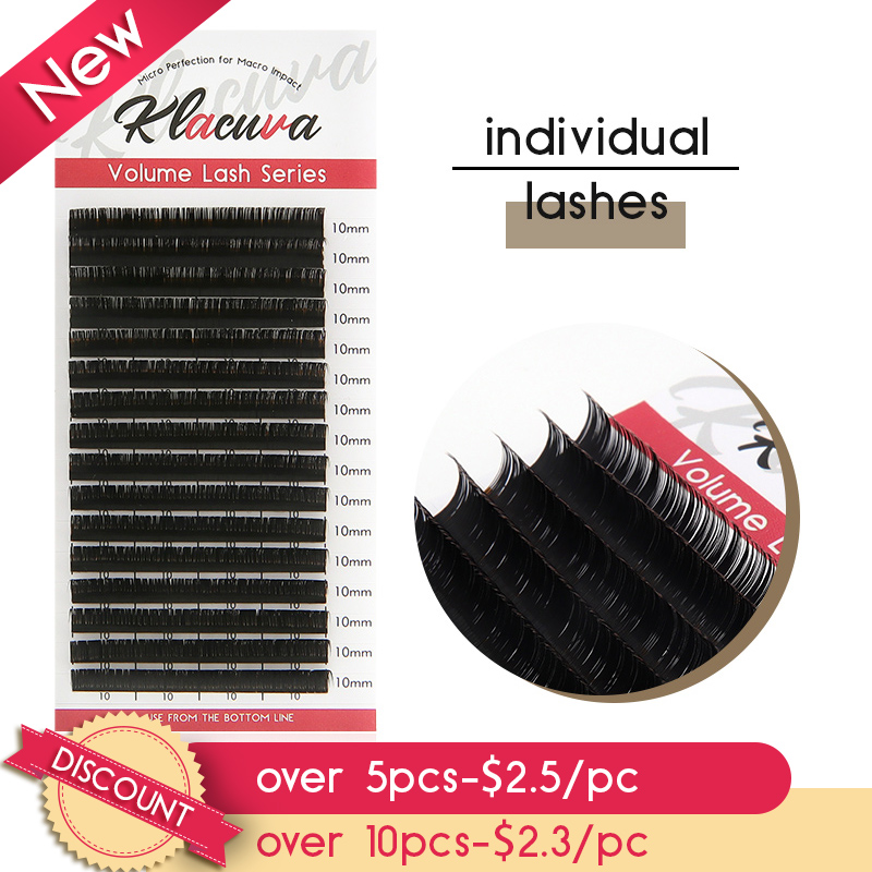 16lines Individual Eyelashes Mink 0.03-0.10 Eyelash Extensions Professional Russian Volume Lash Extensions Softer Lighter Lashes