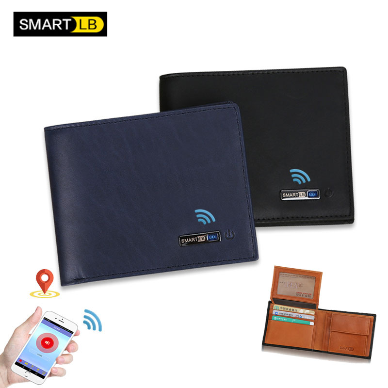Smart Wallet Man 2020 New Genuine Leather RFID Small  Men Wallets Holders Leather Coin Purse Slim Fashion Card Holder