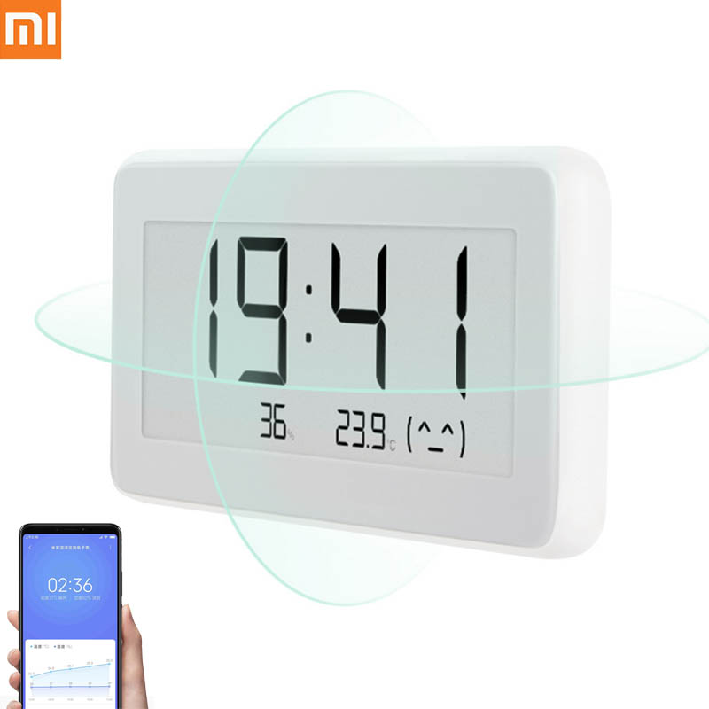 Original Xiaomi Mijia BT4.0 Hygrometer Thermometer LCD Temperature Measuring Tools Wireless Smart Electric Digital Clock