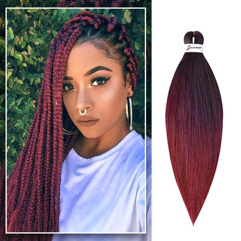 Easy Jumbo Braids Hair Crochet Hair Pre Stretched Braiding Hair Synthetic Extension 26