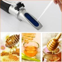 RZ127 Handheld Refractometer Honey Tester Brix 58-92% For beer juice Brix Tester Refractometer Sugar Brix Meter refactometer