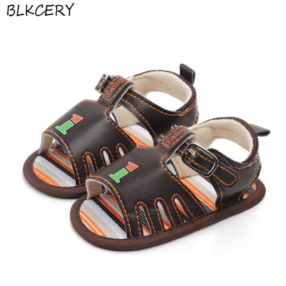 Fashion Brand Infant Baby Boys Summer Shoes Toddler Leather Shoe Soft Sole Cute Cartoon Animal Newborn Footwear For 1 Year Old