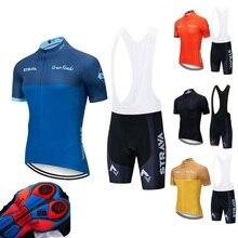Summer 2019 Strava Cycling Jerseys Men Team cycle Wear Short Sleeve Bike Clothing Maillot Ropa Ciclismo Uniformes Biking Clothes