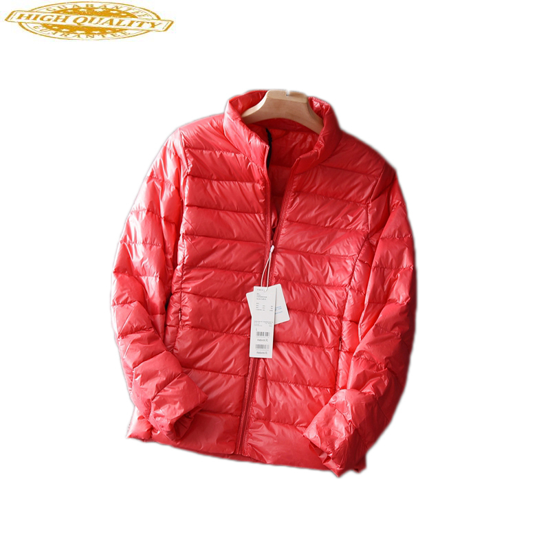 Ultra Light White Duck Down Jacket Women Thin Winter Coat Female Jacket Korean Tops Ladies Coats Chaqueta Mujer KJ411