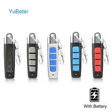 YuBeter אוניברסלי 433mhz שלט רחוק ABCD 4 כפתורים רב צבע אלחוטי שיבוט משדר מתג דלת מוסך שלט רחוק