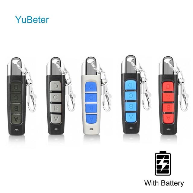 Yubeter Universele 433 Mhz Afstandsbediening Abcd 4 Knoppen Multi Kleur Draadloze Clone Zender Schakelaar Garagedeur Afstandsbediening