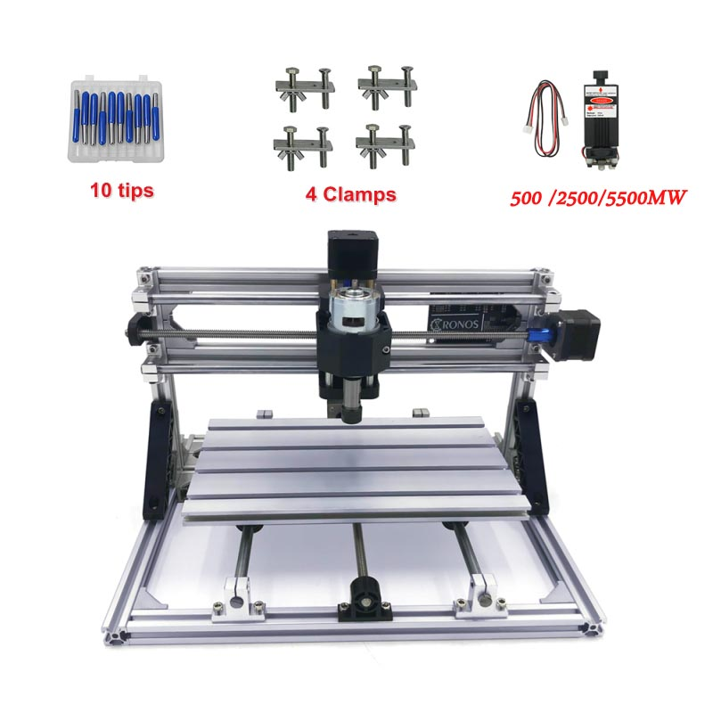 2 In 1 Mini CNC 2418 PRO CNC Engraving Machine Pcb Milling Machine Wood Carving Machine With GRBL Control Diy Mini Cnc Router