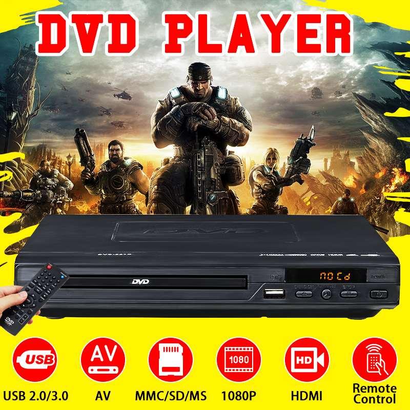 Accueil 1080P HD lecteur DVD Multi système USB 2.0 3.0 lecteur DVD multimédia numérique DVD TV Support HDMI CD SVCD VCD MP3 fonction