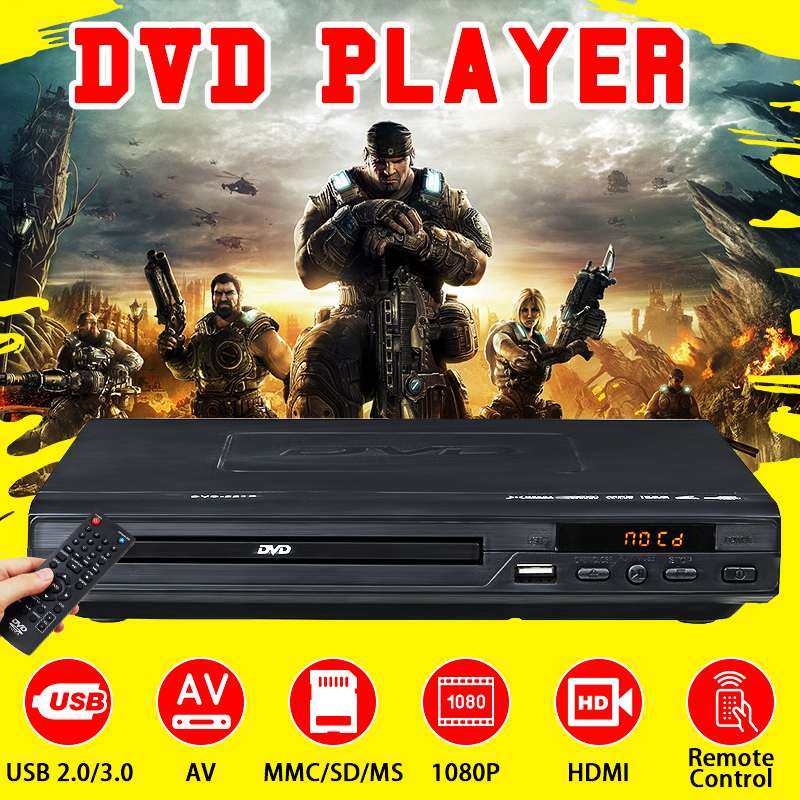 Leitor de Dvd Casa Multi Sistema Usb 2.0 3.0 Multimídia Digital Dvd tv Suporte Hdmi cd Svcd Vcd Mp3 Função 1080 p hd