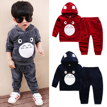 Boys Tracksuit-Set Hooded Spring Sports-Outfit Thin Toddler Girls Kids Child Golden Totoro