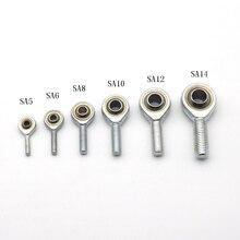 1 шт. внутреннее отверстие 5 мм до 14 мм папа SA T/K POSA правая/левая рука шаровой шарнир метрический резьбовой стержень концевой подшипник для стержня