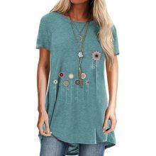 T-shirt imprimé Floral à manches courtes pour femmes, Streetwear, ample, été, 2020