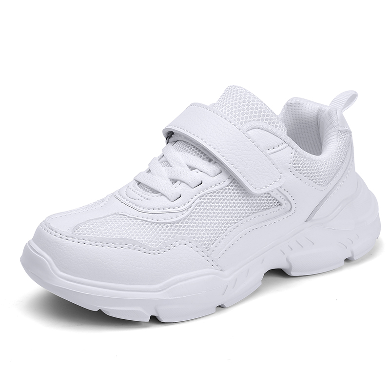 Casual Children Shoes Waterproof Sneakers Kids White Shoes Flats Girls Trainers Fashion Children Leather Shoes Tenis Infantil