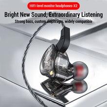 Alta fidelidade com fio fone de ouvido baixo fones redução ruído esporte fones 3.5mm com fio gaming headset para redmi nota 8 umidigi a5 pro