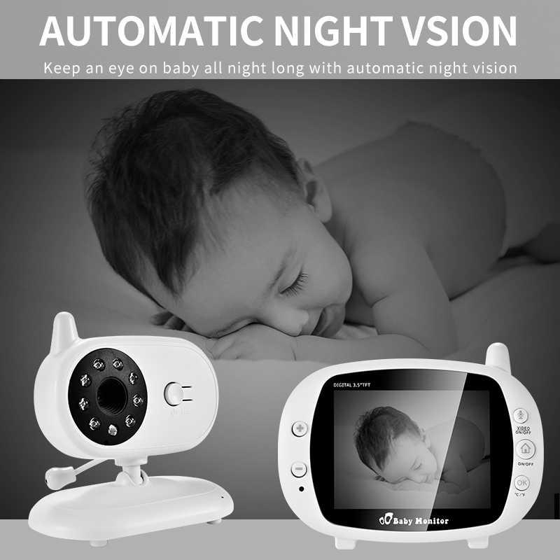 3,5 дюймов видео беспроводной детский монитор VOX камера безопасности няня ИК ночного видения голосовой звонок Babyphone с контролем температуры
