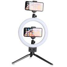 """9 """"LED 80 LEDs 3200 5600K Selfieแหวนโคมไฟที่มีขาตั้งผู้ถือโทรศัพท์ปลั๊กUSB Photo Studio"""