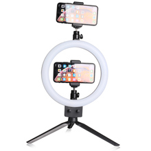 "9"" LED Ring Light 80 LEDs 3200 5600K Selfie Ring Lamp Photographic Lighting With Tripod Phone Holder USB Plug Photo Studio"