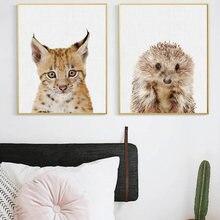Скандинавский Кот настенные художественные картины панды кролика