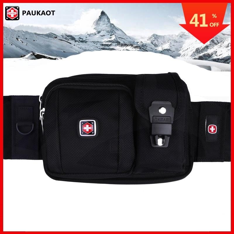 PAUKAOT Waist Packs Fanny Pack Molle Pockets Small Belt Bag Bum Hip Bags Money Phone Purse Pouch For Men