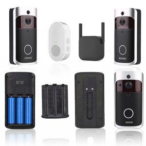 Image 4 - EKEN visiophone intelligent V5 wi fi IP, interphone vidéo intelligent sans fil, caméra de sécurité IR et alarme, interphone vidéo pour porte dappartement