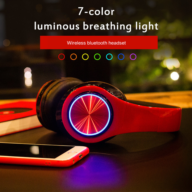 Fast Shipping Portable Bluetooth Wireless Headphones Stereo Foldable Headset Audio Mp3 Adjustable Earphones With Mic For Music 5