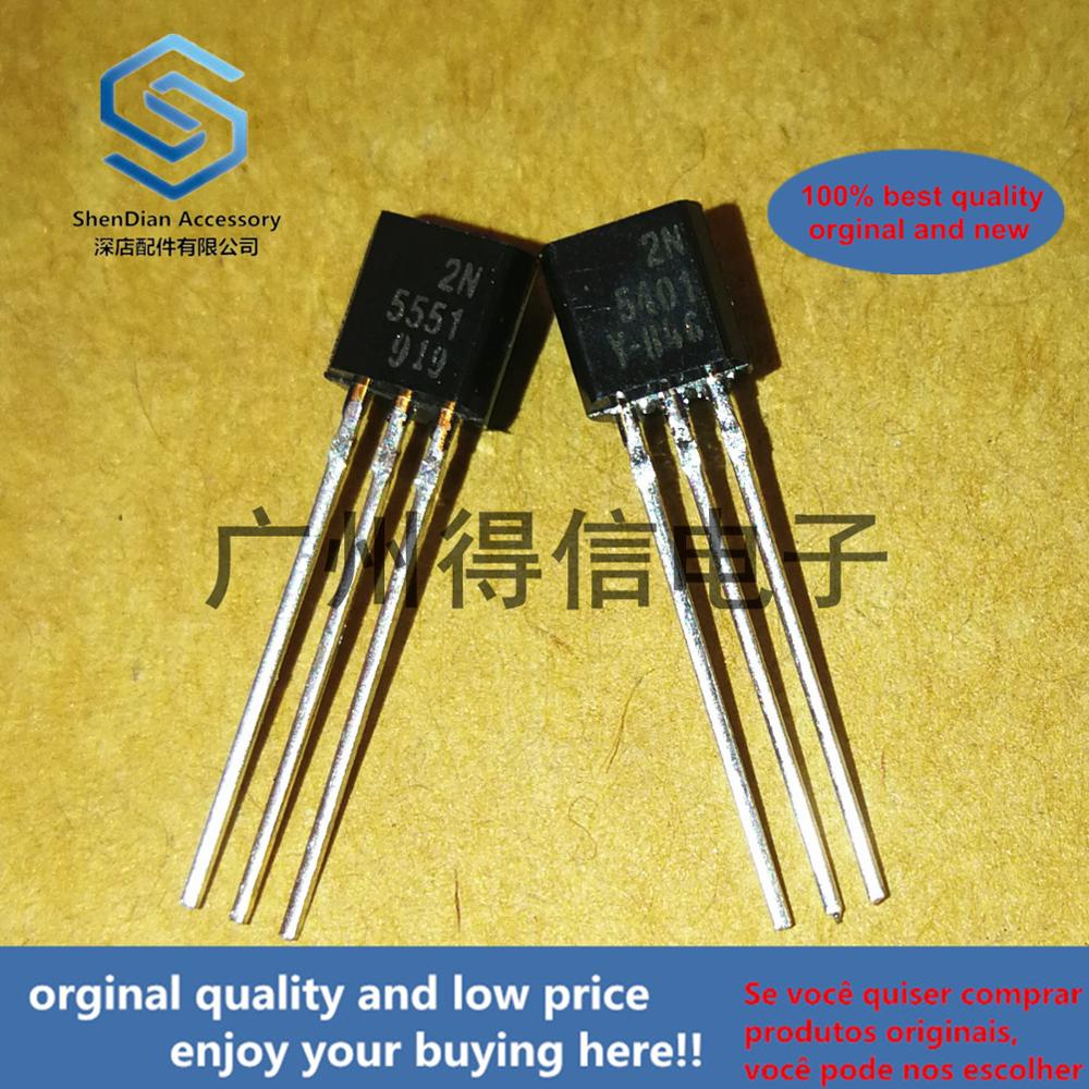 10pcs 100% Orginal New  2N5551 2N5401 TO-92 Mplifier Transistors(NPN Silicon) Real Photo