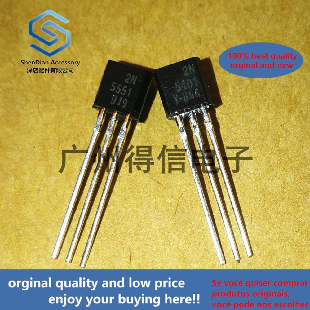 10pcs 100% Orginal New  2N5551 2N5401 TO-92 Mplifier Transistors(NPN Silicon) Real Photo