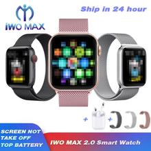 IWO Max 2 0 Smartwatch Bluetooth otrzymać telefon zwrotny od pasek zmiany serii 5 inteligentna opaska tętna Sport zegarek dla Android IOS PK IWO 8 12 IWO 13 tanie tanio Android Wear Android OS Na nadgarstku Wszystko kompatybilny 32 gb Passometer Fitness tracker Uśpienia tracker Wiadomość przypomnienie